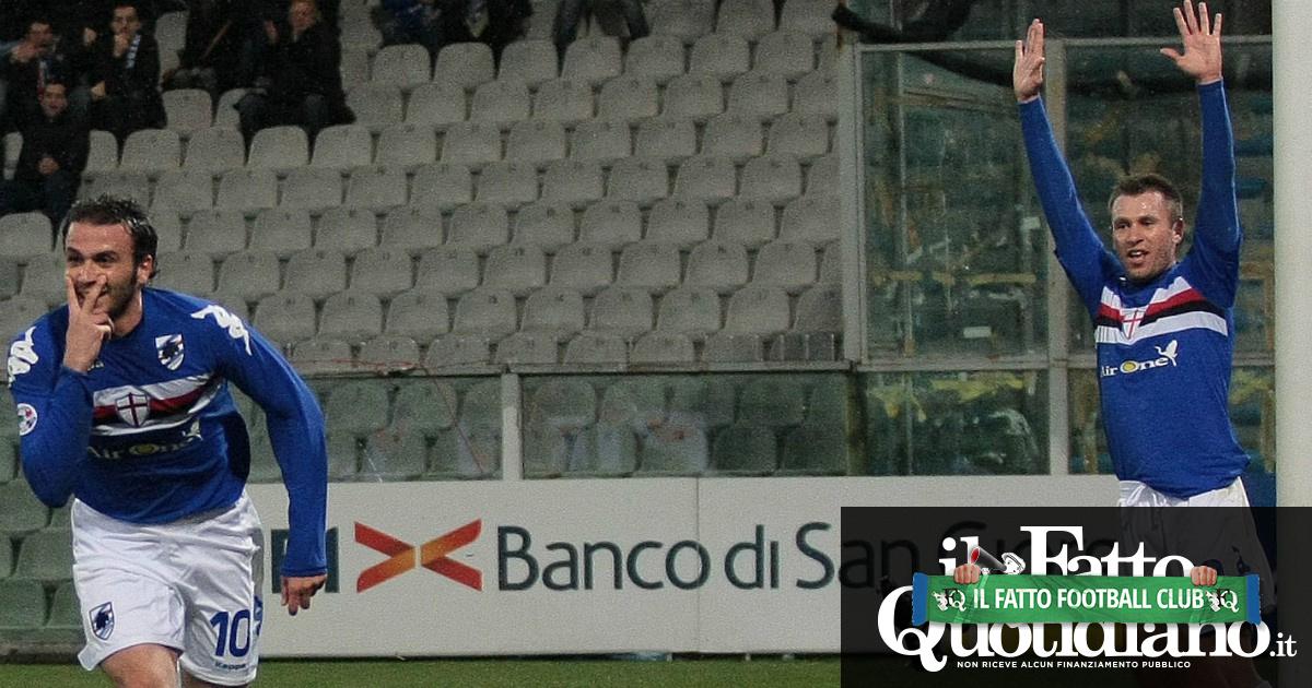 Giampaolo Pazzini dice basta a 36 anni: dalla Tripletta a Wembley alla coppia d'oro con Cassano, diapositive di una carriera da Pazzo