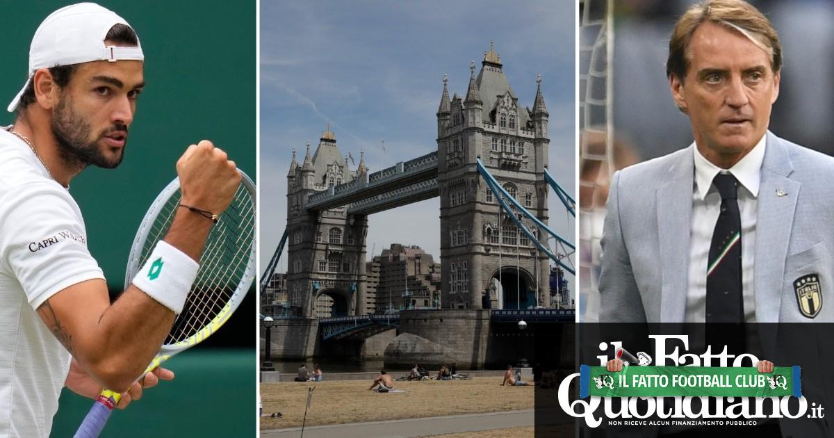 Da Wimbledon a Wembley: 20 chilometri per la storia. La domenica 'italiana' a Londra: prima Berrettini poi gli azzurri di Mancini