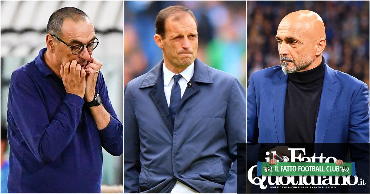 Allegri, Spalletti e Sarri: la loro ombra incombe sulle panchine di Serie A. Tre 'big' costretti ad aspettare un'occasione