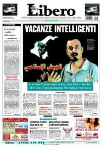 """La copertina di """"Libero"""" del 24 agosto 2004"""