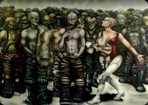 """Il murales bolognese """"Il quarto stato cyborg"""""""