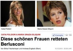 Catia Polidori e Maria Grazia Siliquini sulla Bild Zeitung