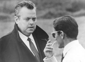 """Orson Welles e Pier Paolo Pasolini durante le riprese del film """"La Ricotta"""""""