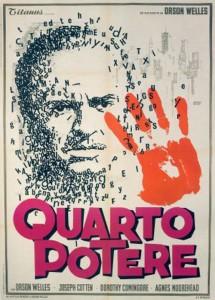 """La locandina del film """"Quarto potere"""" di Orson Welles"""