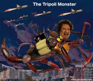 Gheddafi tripoli monster