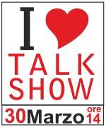 Il logo del presidio I Love Talk Show contro il bavaglio all'informazione politica