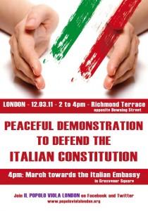 La locandina del C-Day del 12 marzo a Londra