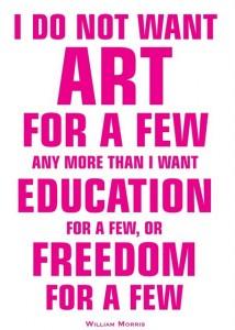 Jeremy Deller e Scott King, Poster per la campagna Save the Arts