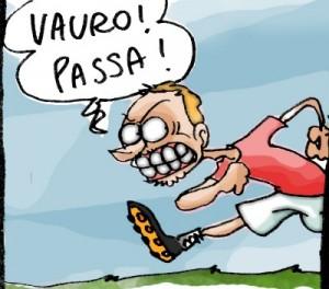 Una vignetta dalla striscia sui voltagabbana di Natangelo