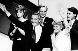 Walter Mondale, Geraldine Ferraro, Eleanor Mondale, Ted Mondale, William Mondale,