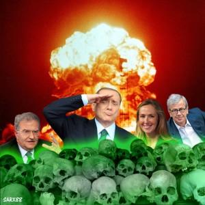 L'illustrazione di Sarx88 sulla corruzione e la propaganda pro-nucleare del Governo