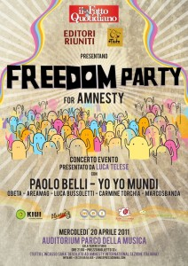 freedom party for amnesty