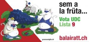 """Le immagini promozionali della campagna """"Bala i ratt"""" dell'Udc Ticino"""