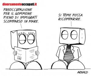 La vignetta di Arnald sugli immigrati tratta da Diversamenteoccupati.it
