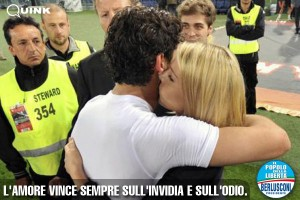 Barbara Berlusconi e Pato al termine della partita Roma-Milan del 7 maggio 2011