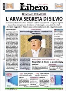 La prima pagina di Libero del 21 maggio 2011