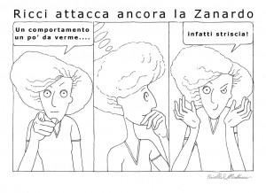 La vignetta sulla vicenda di Striscia la Notizia e Lorella Zanardo, firmata Faiella e Montecroci