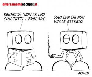 La vignetta di Arnald su Brunetta e i precari