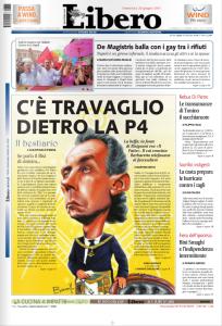 La prima pagina di Libero del 26 giugno 2011