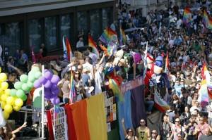 La parata dell'Europride 2011 per le vie di Roma