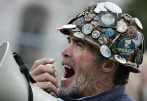 L'attivista inglese Brian Haw