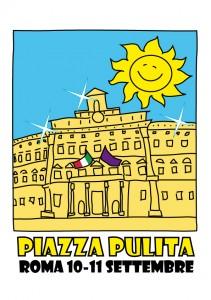 """Logo della manifestazione """"Piazza Pulita"""" che si terrà a Roma il 10 e 11 settembre 2011"""