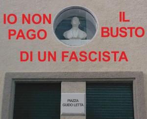 Io non pago il busto fascista