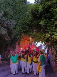 Un momento della festa di S. Anna al Porto di Salerno