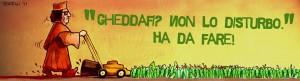 La vignetta su Gheddafi di Marco Vicari
