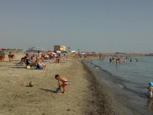 La spiaggia di Torrazza nel comune di Petrosino (Trapani)