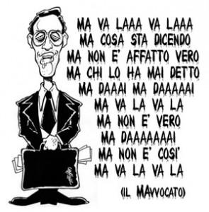 """La vignetta di The Hand sull'avvocato Niccolò """"Mavalà"""" Ghedini"""