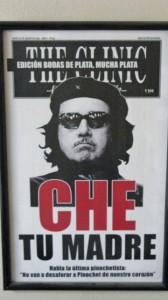 Una copertina di The Clinic con la caricatura di Pinochet nei panni del Che