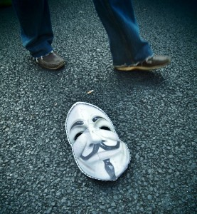 """La maschera di """"V di Vendetta"""" in terra a Roma il 15 ottobre"""