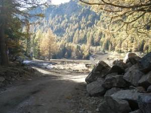 Una pista di montagna