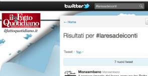 l'hashtag #laresadeiconti su twitter