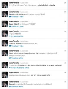 Fiorello su Twitter da Cortina, mattina del 29 dicembre 2011