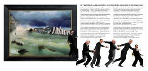 Il naufragio della Concordia visto da Francesco Spadoni