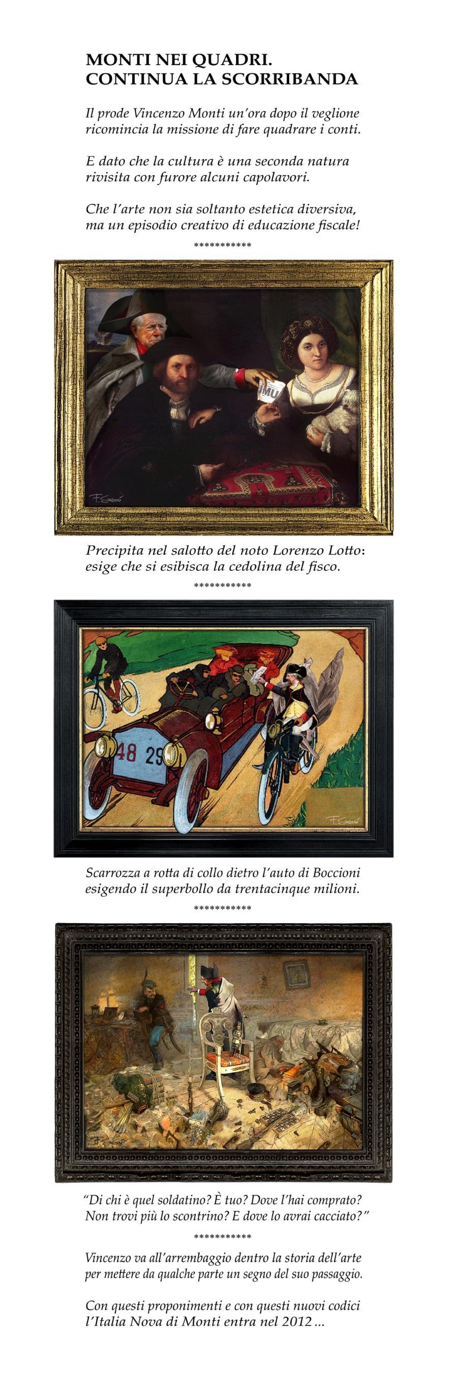 Mario Monti nei quadri famosi della storia dell'arte