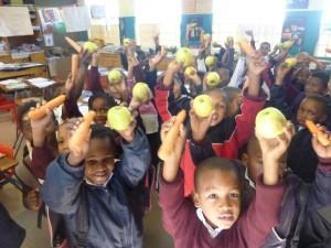 Bambini in una scuola del Mozambico