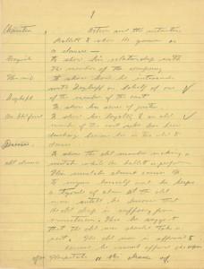 Manoscritto inedito Chaplin