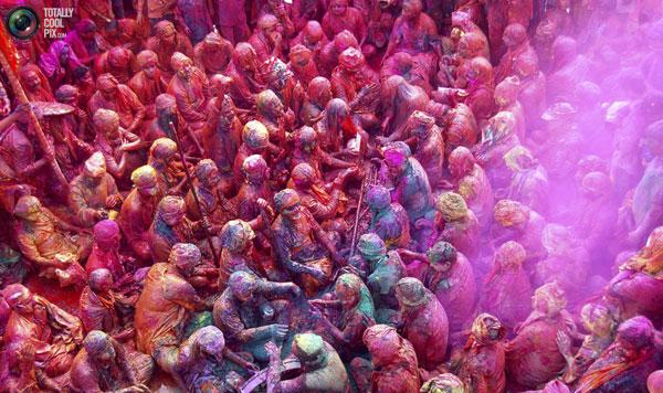 Festa induista di Holi, India, 2011