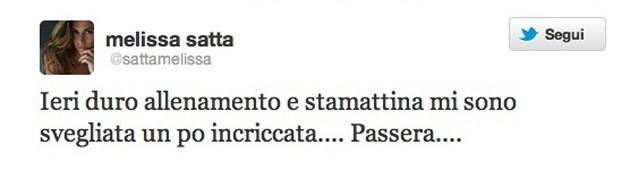 Melissa Satta twitter