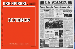 copertine Spiegel - La Stampa 2003
