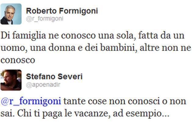 Il tweet di Formigoni