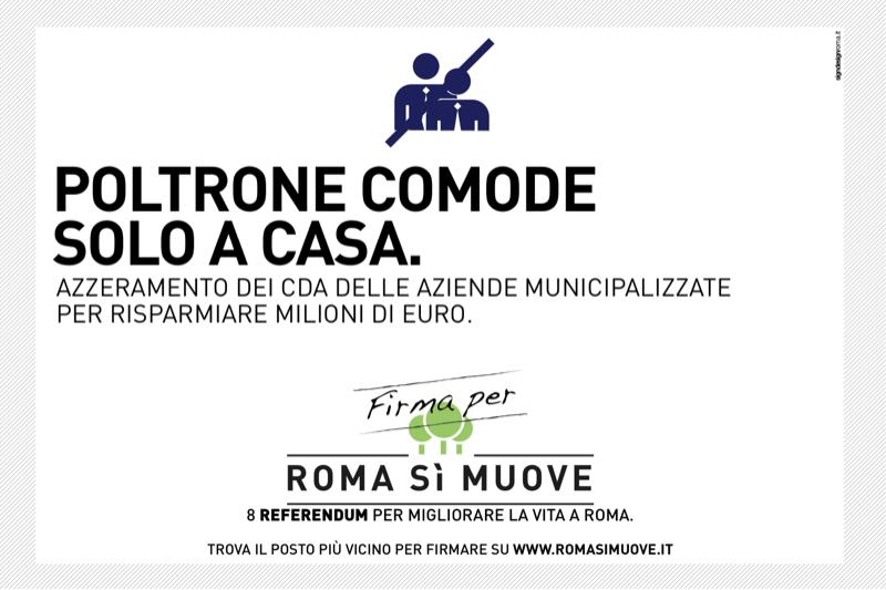 Poltrone scomode solo a casa - Referendum Roma Sì Muove