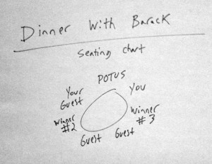 Schema dei posti a tavola