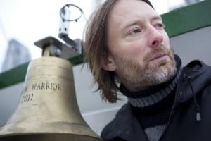 Thom Yorke of Rock Band Radiohead aboard the Rainbow Warrior