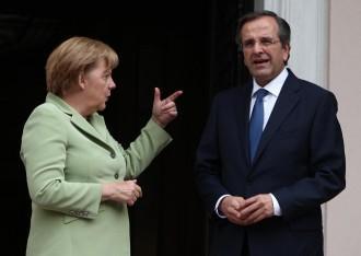 Atene, Angela Merkel incontra Antonis Samaras