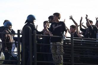 Sciopero generale - Studenti-Forze dell'ordine