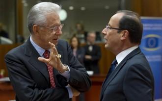 Mario Monti, Francois Hollande